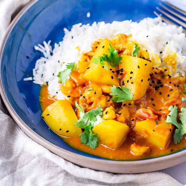 Creamy Prawn Curry with Potato