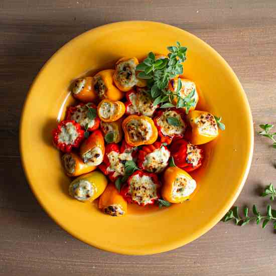 Ricotta Stuffed Mini Peppers