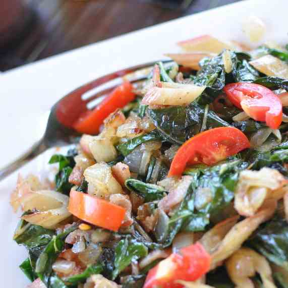 Skillet Swiss Chard with Bacon