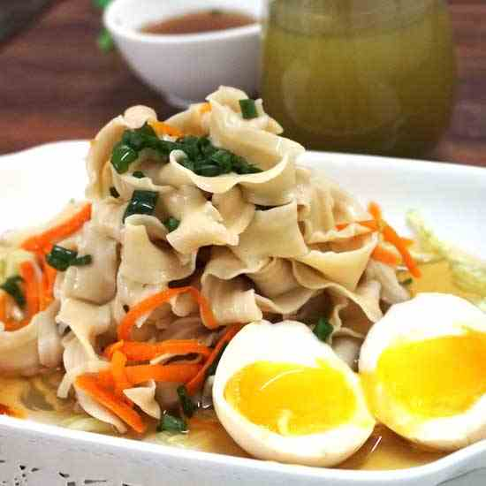 Japanese Cold Noodle with Soft Boil Egg