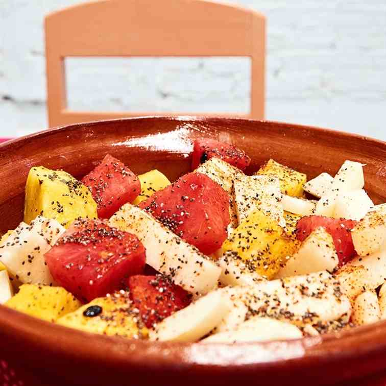 Spicy Fruit Salad with Chia