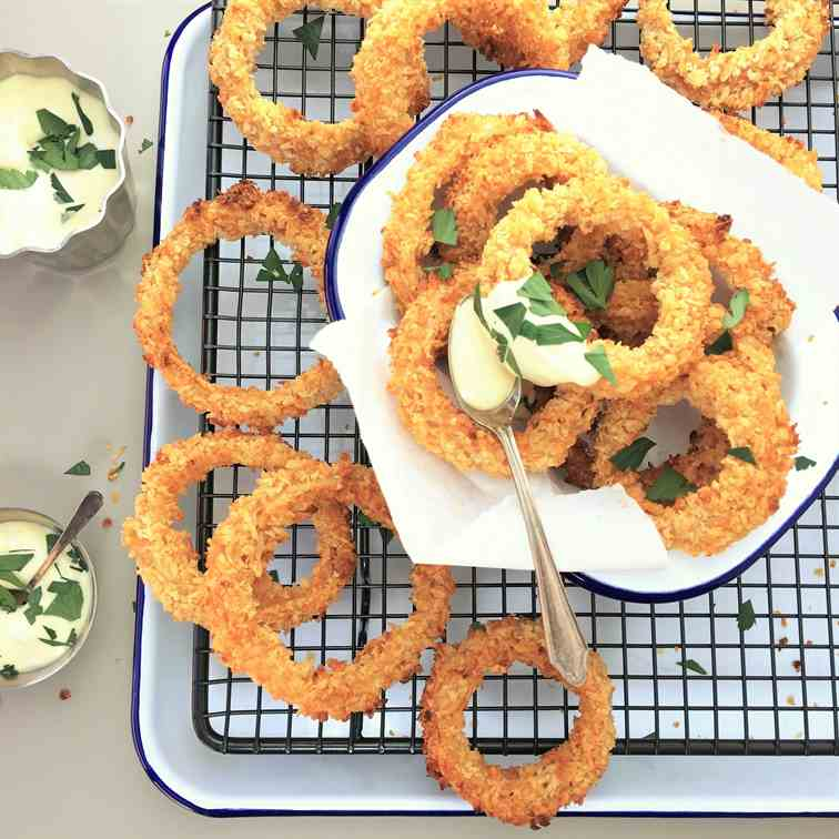 Double Crunch Baked Onion Rings