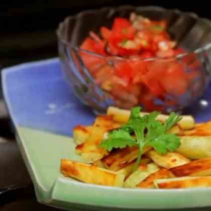 Healthy Eating- Baked Sweet Potato Chips