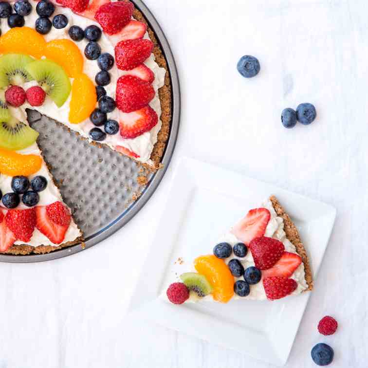 Healthy, Vegan, Gluten-Free, Fruit-Pizza