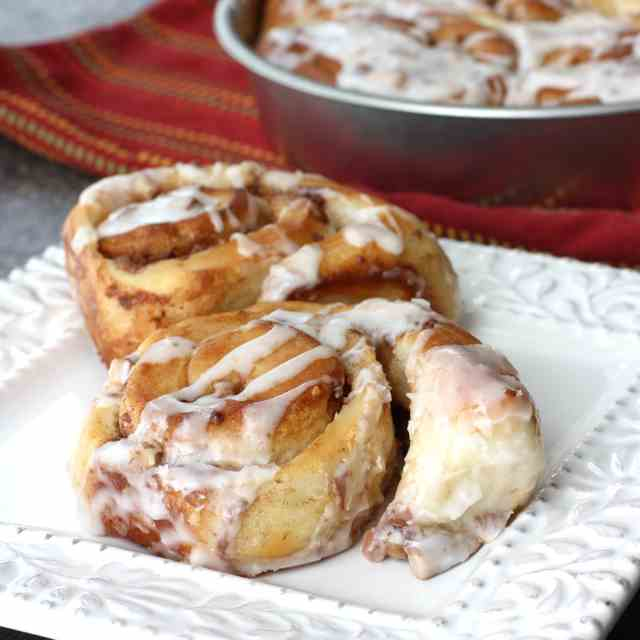Heath Bar Cinnamon Rolls