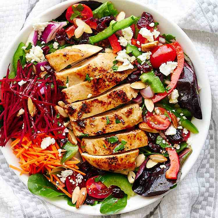 Grilled Chicken Salad with Citrus Dressing