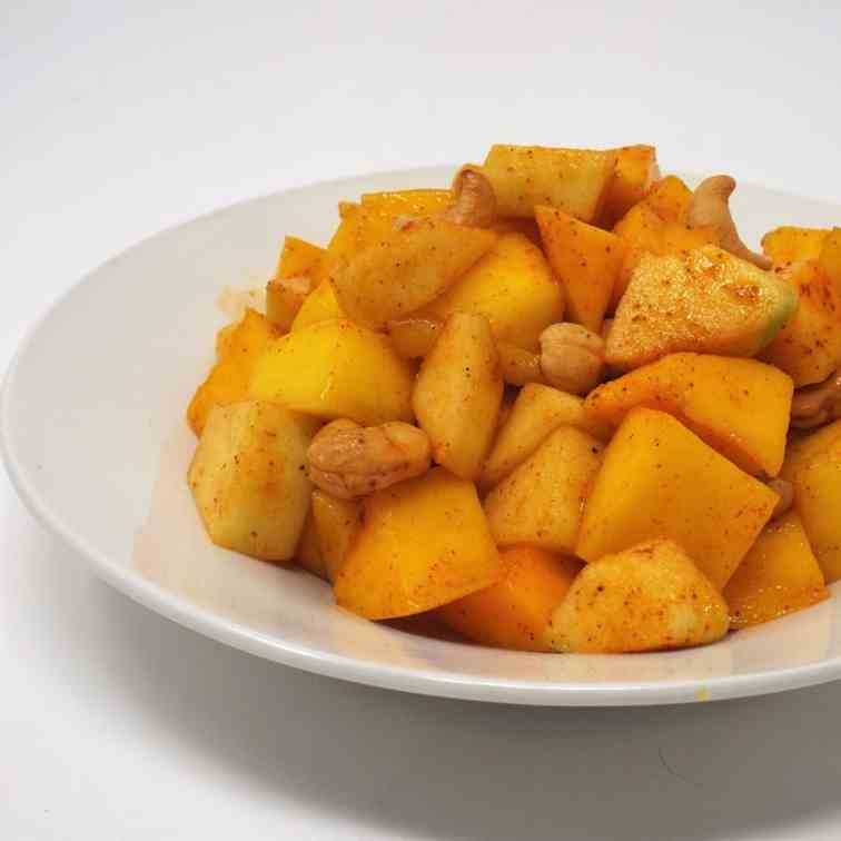 Mango Fruit Salad with Chili-Lime Dressing