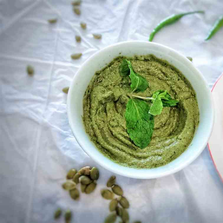 Nut-free mint pesto