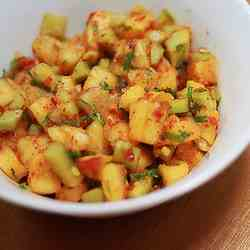 Nyonya pineapple & cucumber salad