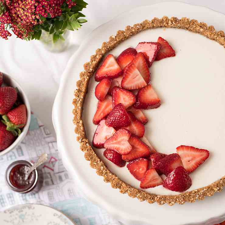 Strawberry Panna Cotta Tart
