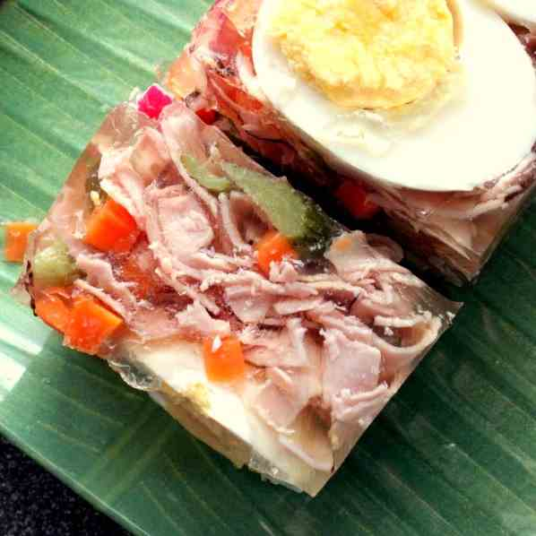 Ham and Egg Aspic