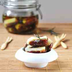 Dates stuffed with manchego and rosemary