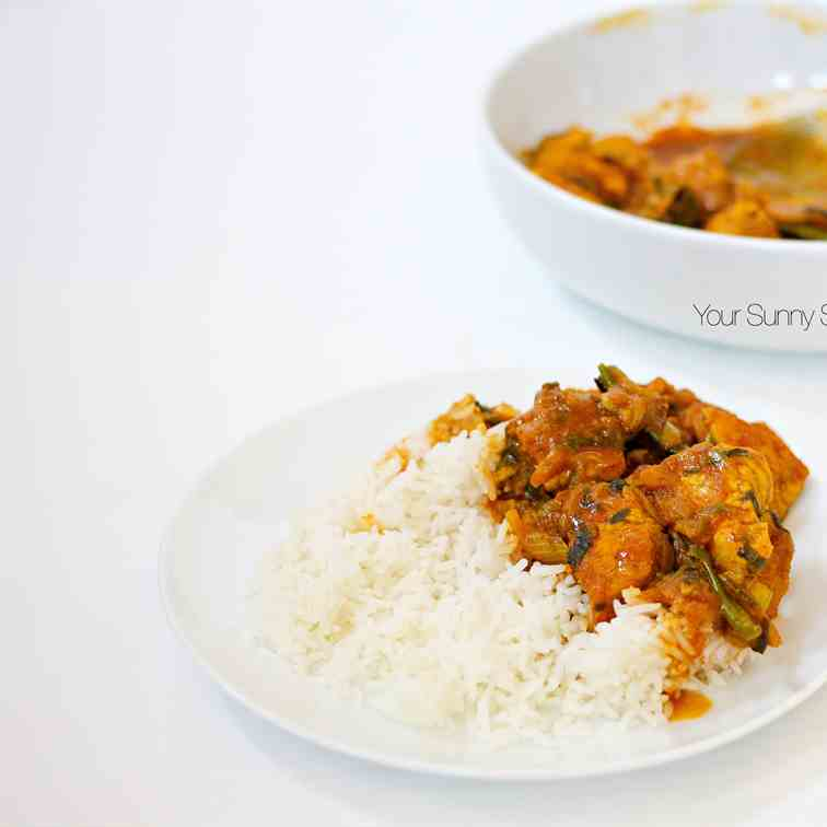Mum's Chicken Bhuna Curry