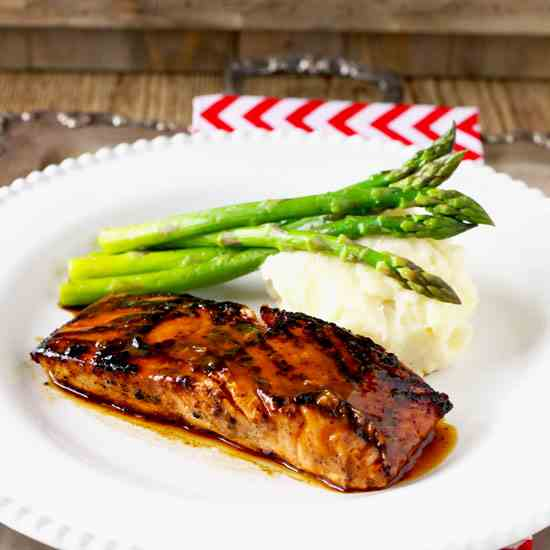 Miso Honey Glazed Salmon