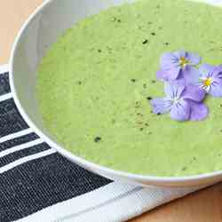 Raw Cucumber Wasabi Soup