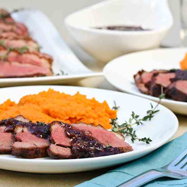 Duck Breast with Blackberry Pan Sauce