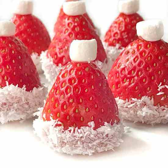 Strawberry Santa Hats