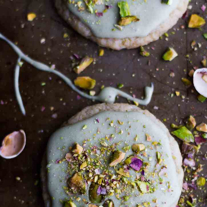 Matcha Frosted Sugar Cookies