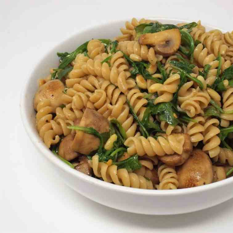 Whole Grain Rotini w- Arugula - Mushrooms
