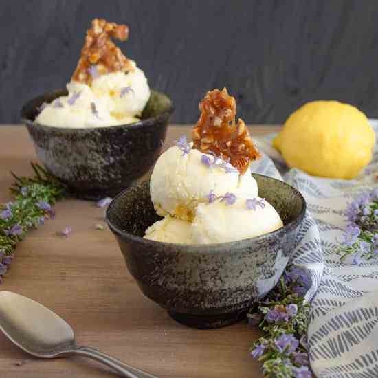 Rosemary Lemon Ice Cream