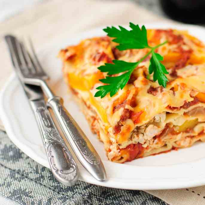 Instant Pot Turkey - Sweet Potato Lasagne