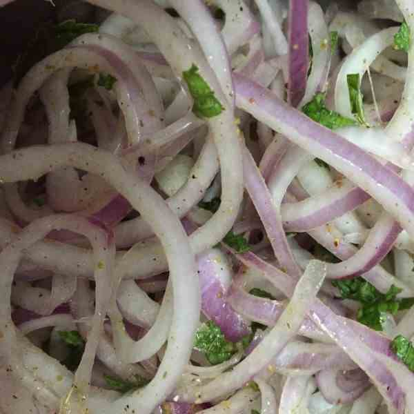 Onion Chat Masala Salad