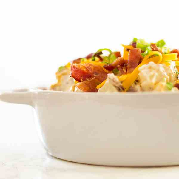 Loaded Baked Potato Salad With Yogurt