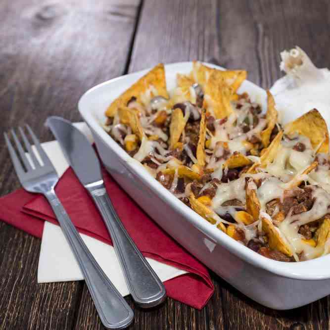 Healthy Mexican Nachos With Sweet Potato C