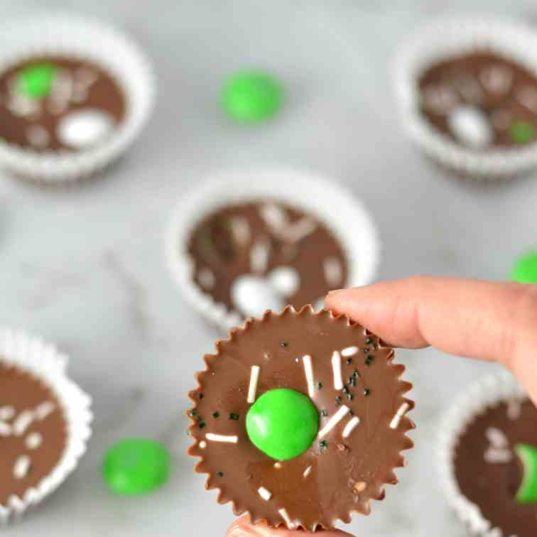St Patrick's Day Nutella Cups