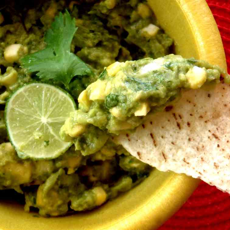 Guacamole With Key LImes and Grilled Corn