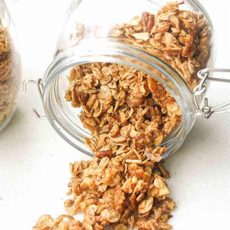 Coconut Maple Walnut Granola