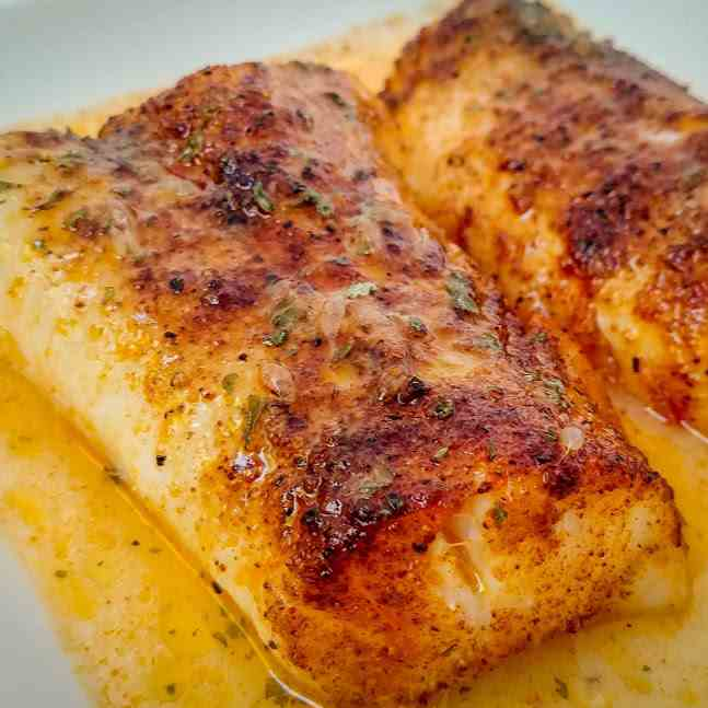 Spiced Cod Fillets in Lime Butter