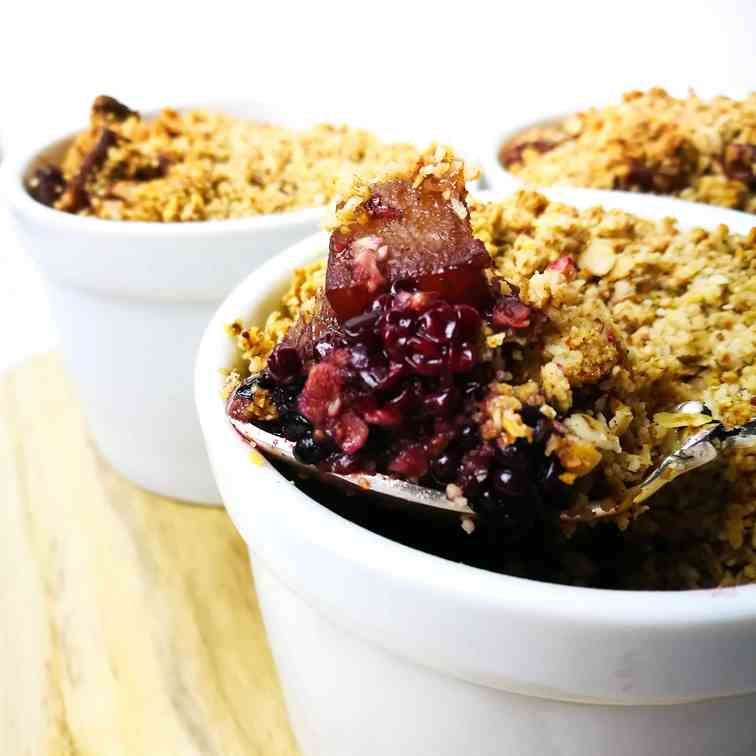 Mini Blackberry - Pear Crumble