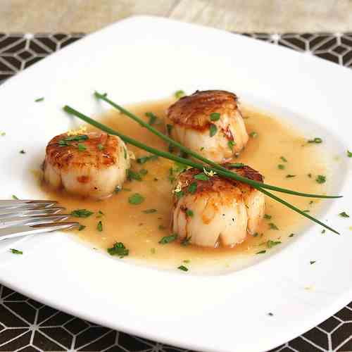 Caramelized Scallops