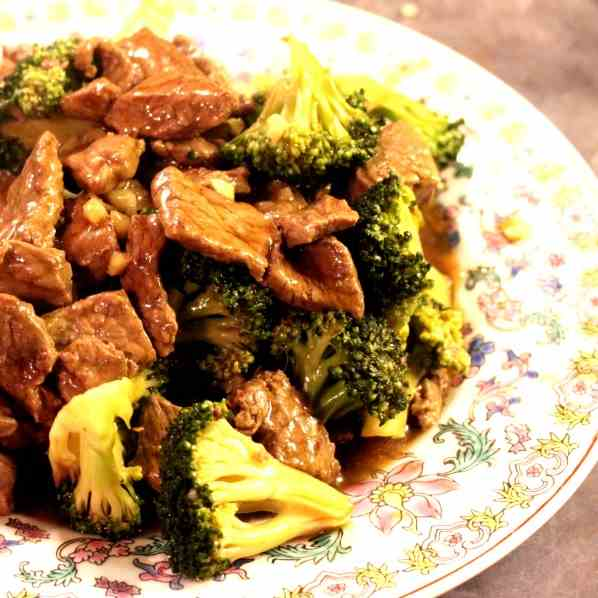 Chinese Broccoli and Beef