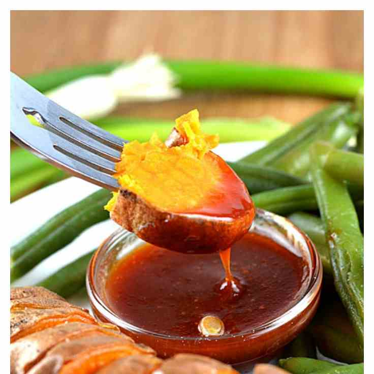 Sweet Potatoes with Tangy Plum Sauce