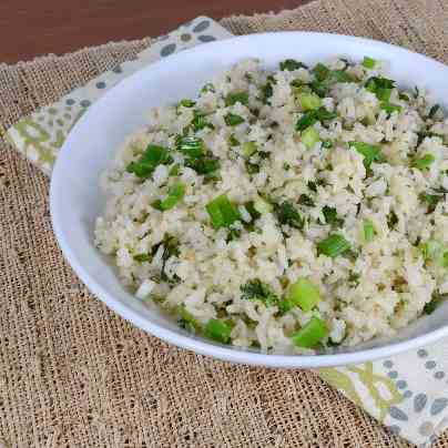 Garlic Rice with Green Onions and Cilantro