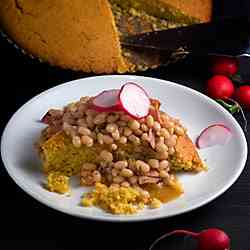 Moravian Beans and Cornbread