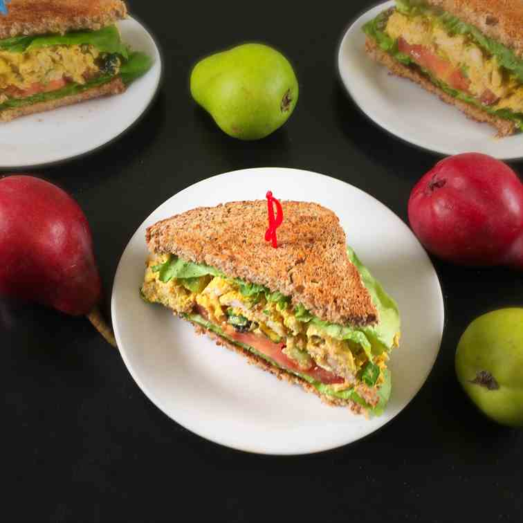 Turkey Curry Salad Sandwiches