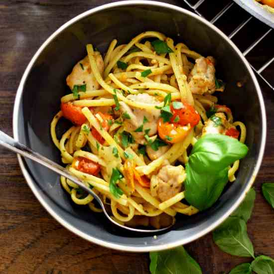 Pesto Linguine with Chicken