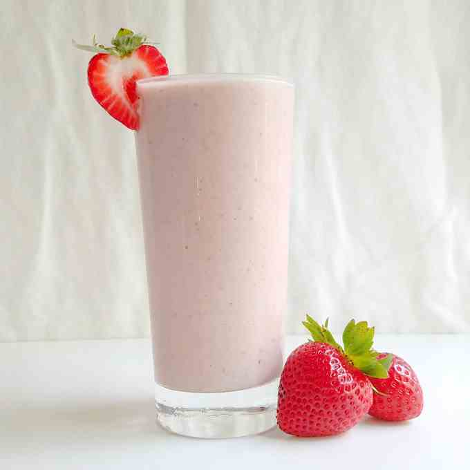 Strawberry Tahini Milkshake