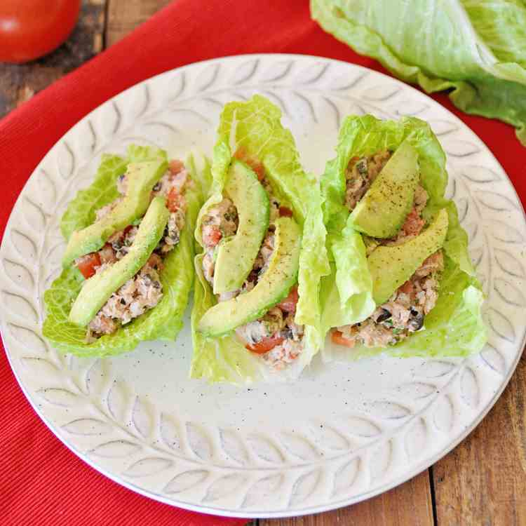 Lettuce Wraps with Spanish Tuna