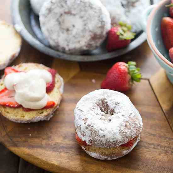 Strawberry Donut Sandwiches