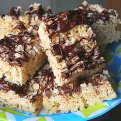 Peanut Butter Chocolate Rice-Cereal Treats