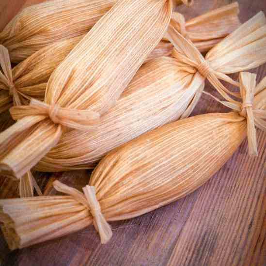 Sweet coconut and pineapple tamales