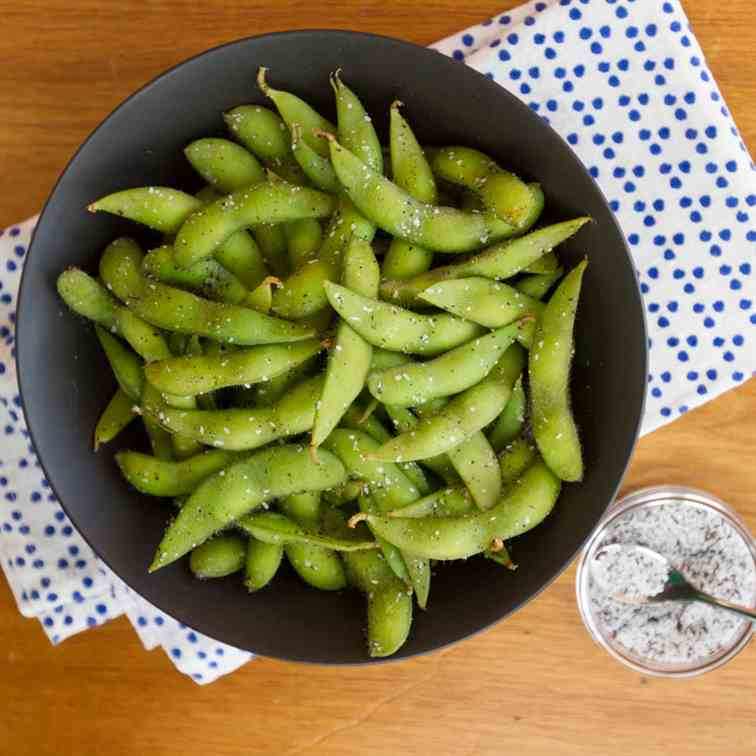 Edamame with Smoky Tea Salt