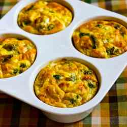 Baked Mini Frittatas with Broccoli