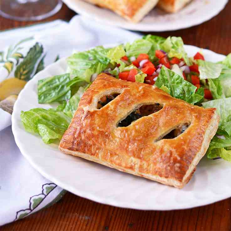 Sausage and Kale Puff Pastry Pockets