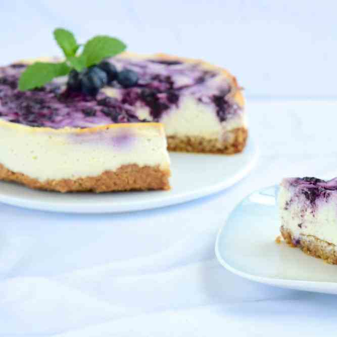 Philips Airfryer Blueberry Cheesecake