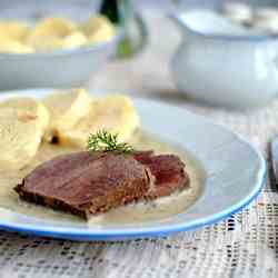 Beef in cream dill sauce